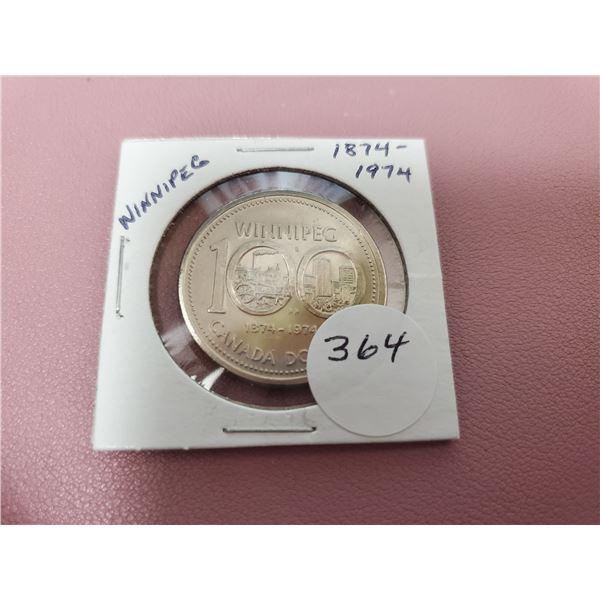 1974 Dollar - Uncirculated - WINNIPEG Centennial