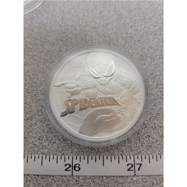2017 -SPIDERMAN - one ounce pure silver - Tuvalu Dollar