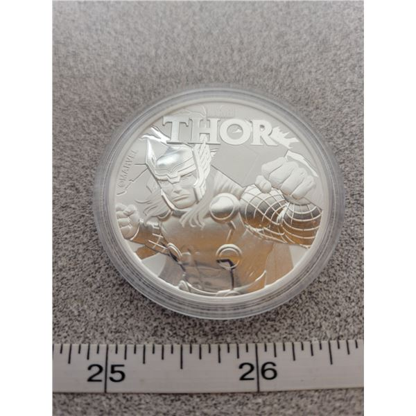 2018 - THOR - one ounce pure silver - Tuvalu Dollar
