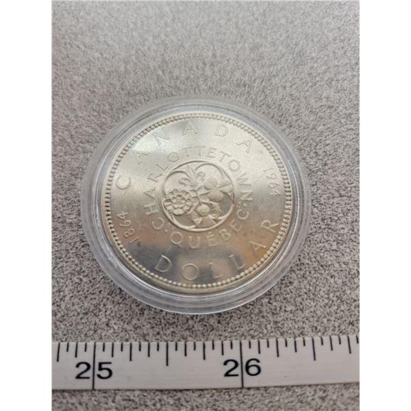 1864-1964 Silver Dollar - Charlottetown Quebec