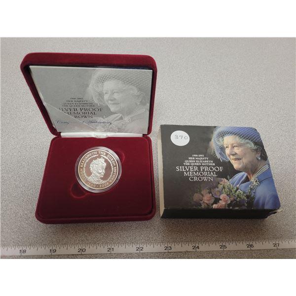 1900-2002 - Queen Mother Commemorative British 28.28 gm Silver 5 lb coin