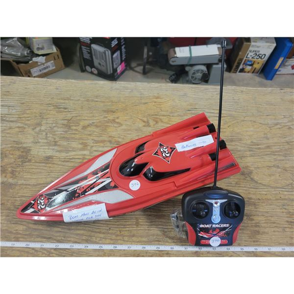 Remote controlled Boat Racers - (Batteries Included)  Works great on small ponds or shorelines