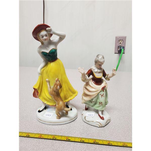2 Occupied Japan figurines