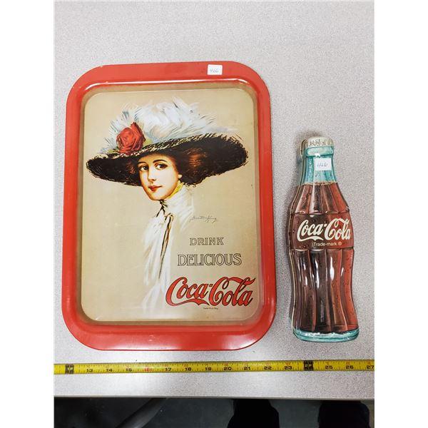 Coca-Cola tray & tin