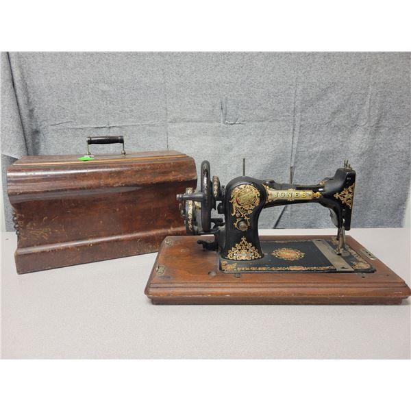 Hand crank sewing machine ( Jones )
