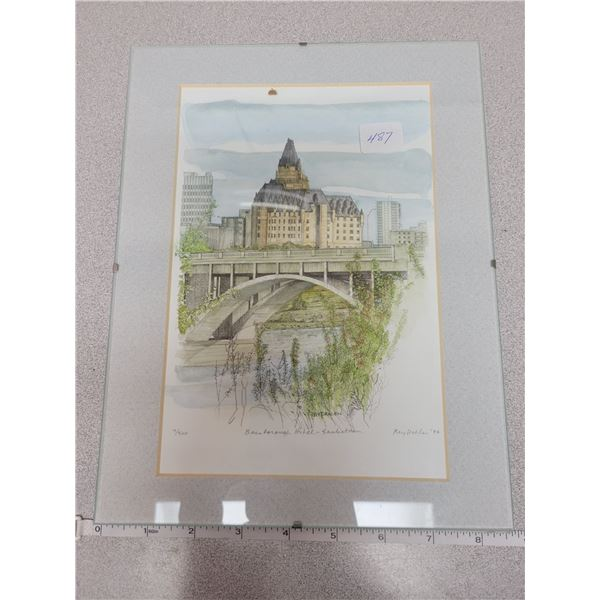 Picture of Bessborough Hotel Saskatoon - oil, 7/500 Rey Dahlen