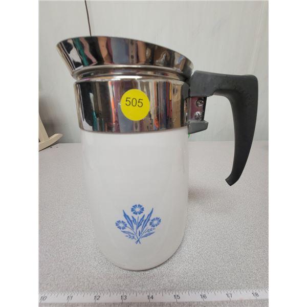 Six cup Corningware coffee pot