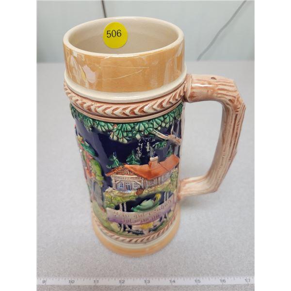 "heavy West Germany beer mug - 8.5"" tall"