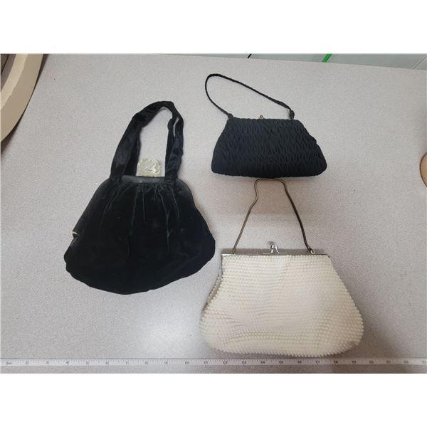 Three evening purses