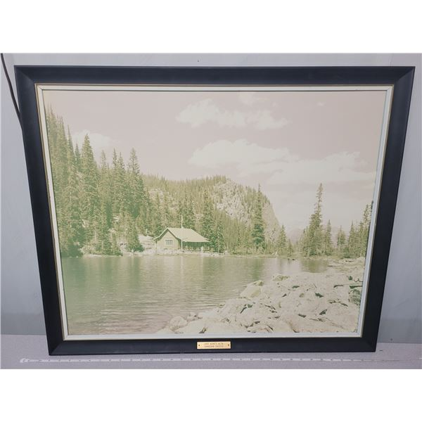 """Picture labelled Lake Agnes, Alberta. Canadian Pacific 24"""" X 30"""" - came from old railroad station"""