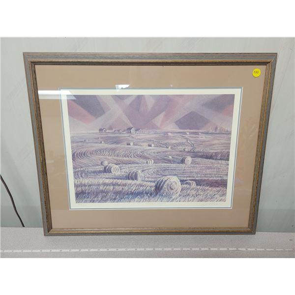 """Harvest Gleam"", number 82/700 Print - gail adams artwork 1994"
