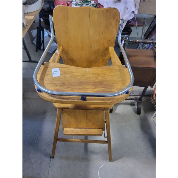 1950's Maplewood high chair and tray