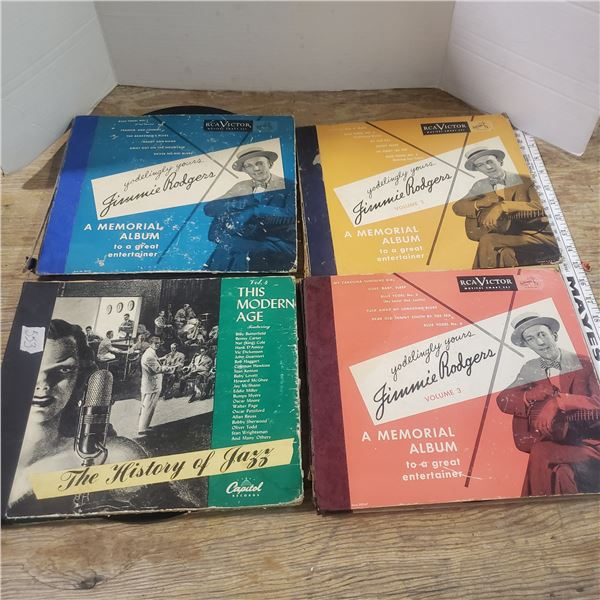 4 albums of 78s records vinyl assorted artists
