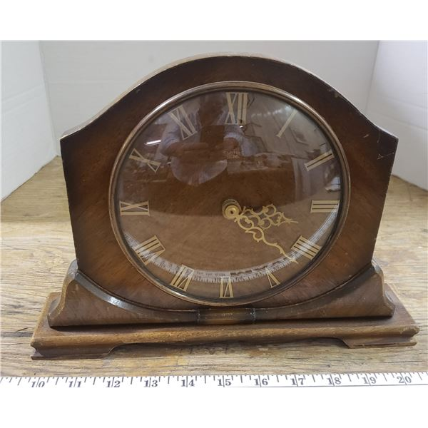 antique electric mantle clock - works