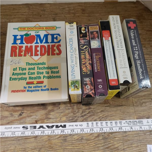 6 self healing and spiritual VCR tapes and book
