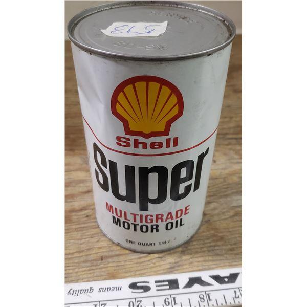 Shell super oil can - full