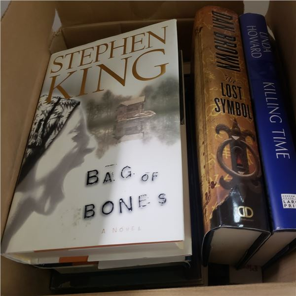 box of hardcover books book lot from estate