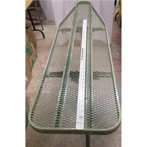 old metal ironing board