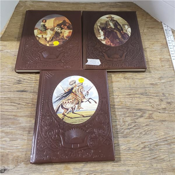 3 nice hardcover books of the old west