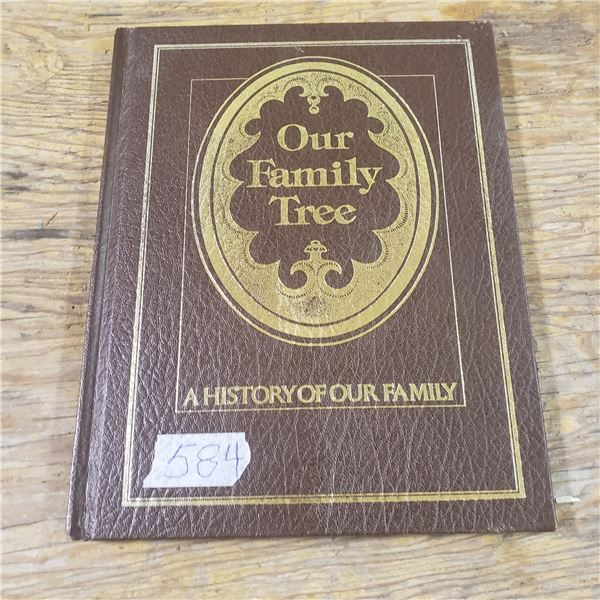 New old blank family history book