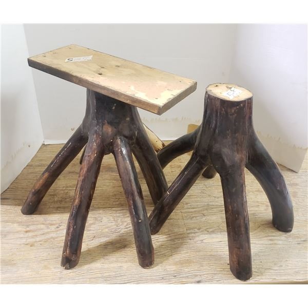 2 handmade plant stands