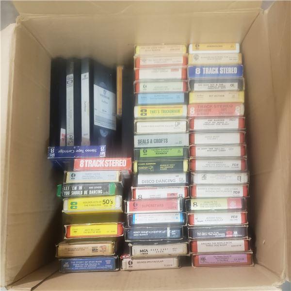 39 8 tracks, 4 VHS tapes, 1 cassette