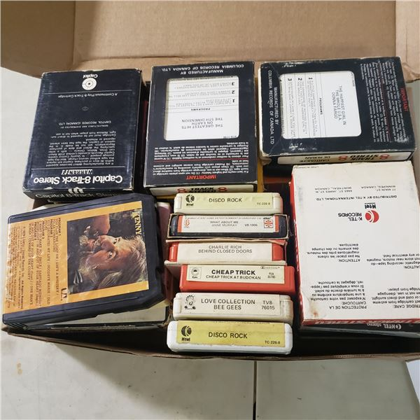 large lot of 8 track tapes vintage original rock and roll, plus Disney, Abba