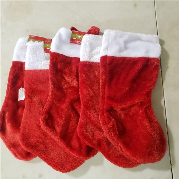 5 never used Christmas stockings