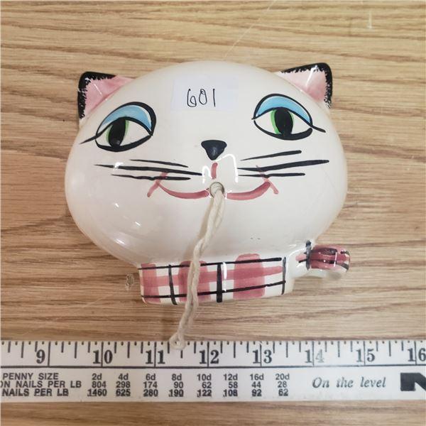 Holt Howard Cozy Cat wall mount string holder 1958