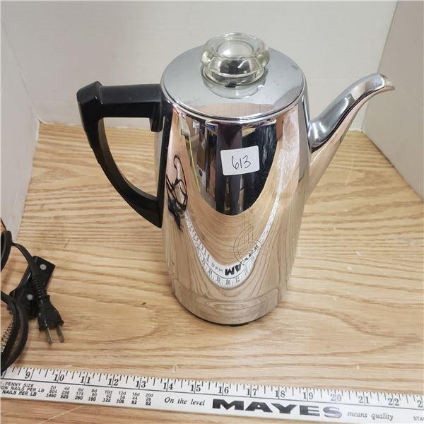 Sunbeam retro art deco chrome coffee pot