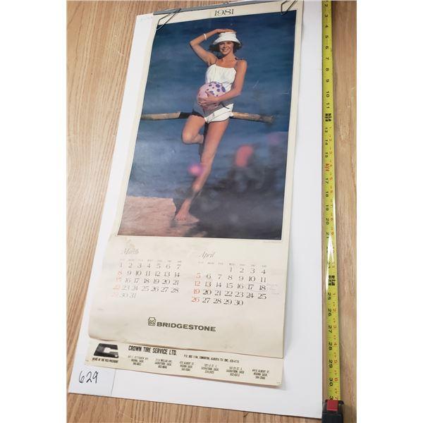 Bridgestone 1981 Pinup Calendar full year