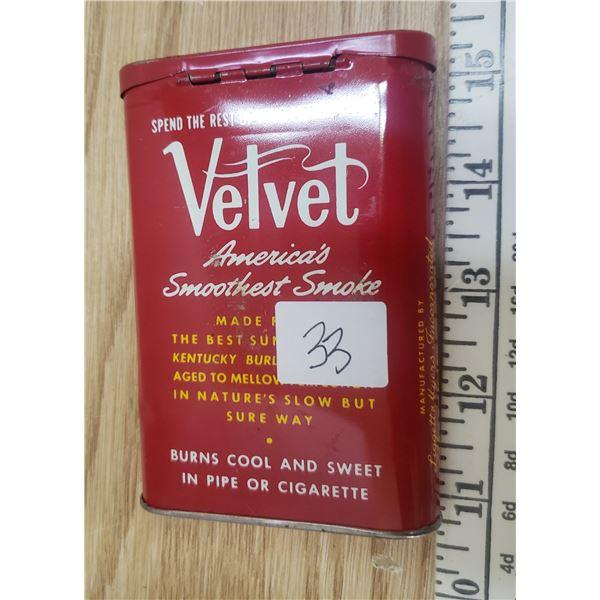 VELVET Pocket tobacco tin with contents