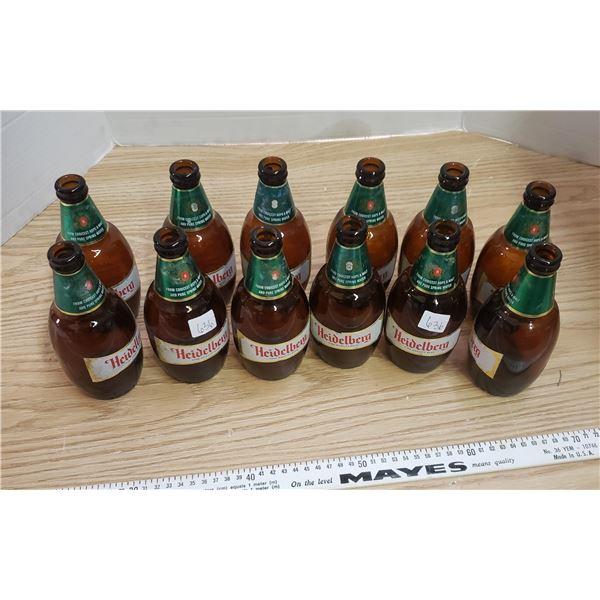 Vintage stubby Heidelberg beer bottle
