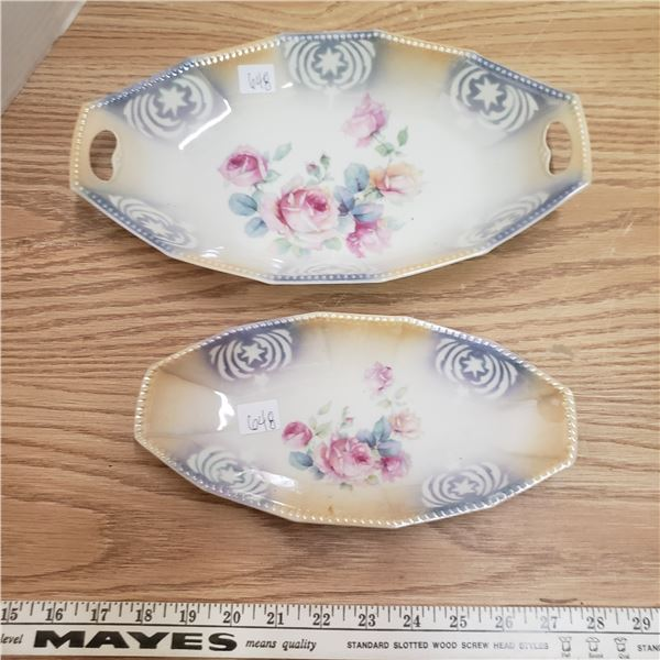 matching hand painted Bavaria / Germany serving dishes