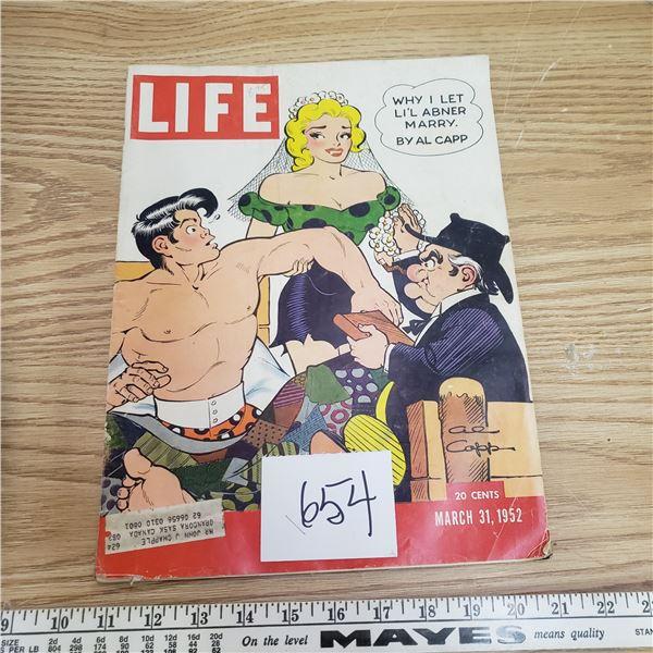 1952  LIFE Magazine All Capp L'il Abner - coke ad on back Vintage advertising