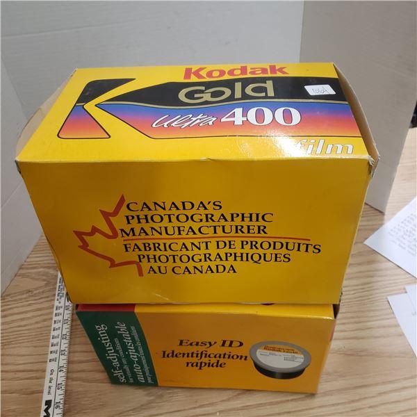 Vintage Kodak promo display film boxes
