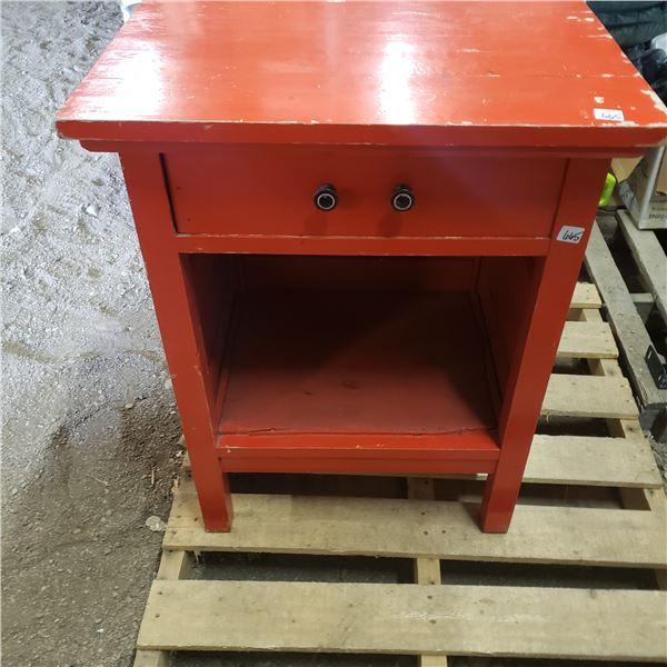 Maple wood washstand single drawer