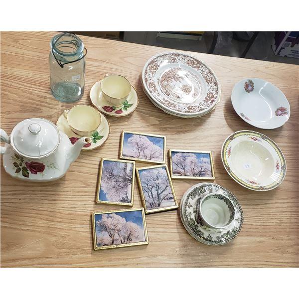 Misc bone China teacups etc