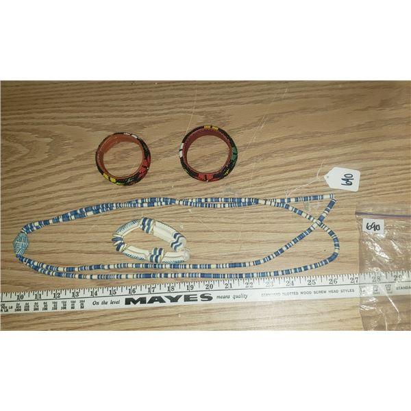 tribal jewellery with beaded bracelets