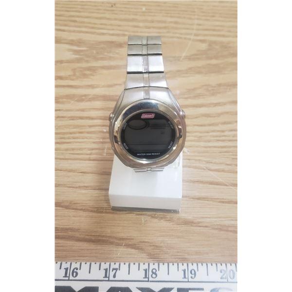 Coleman stainless quartz wrist watch