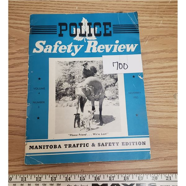 Police safety review magazine 1953  Eaton's ad on back cover