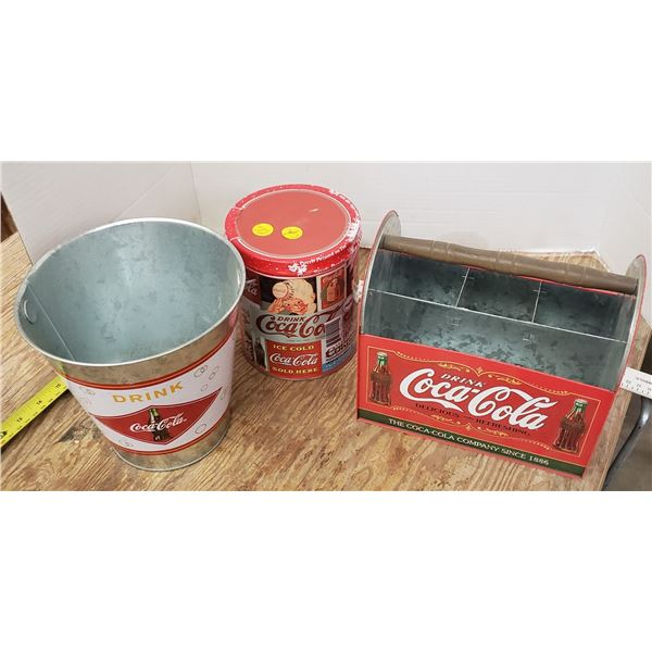 Coca Cola coke collectibles and sealed new puzzle container