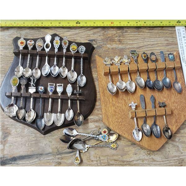 2 spoon display racks with spoons