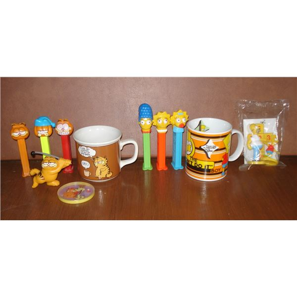 Garfield and Simpsons collectible lot