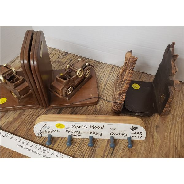 assorted vintage woodware items