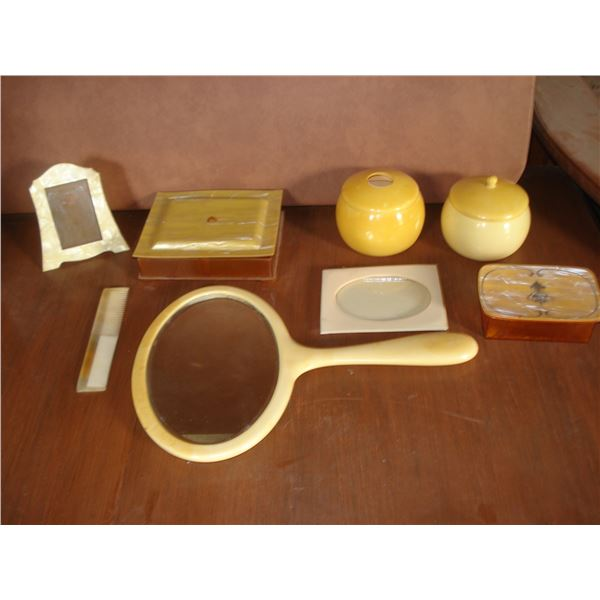 French Ivory/ celluoid dresser items