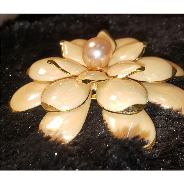 Large Joan Rivers Enamel brooch