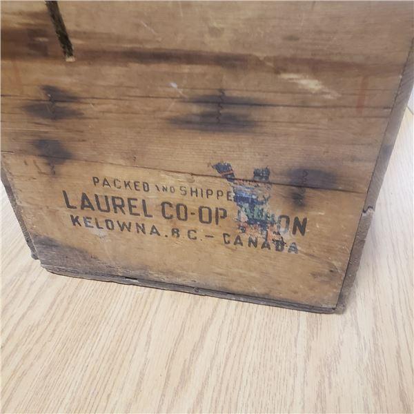 vintage BC fruit box