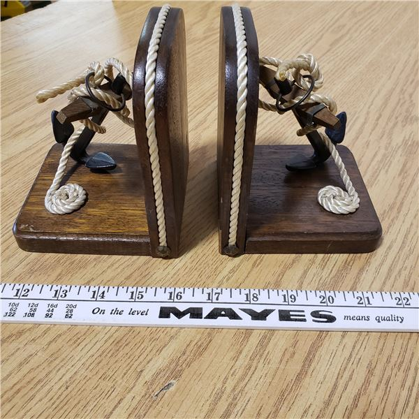 vintage pair of nautical bookends