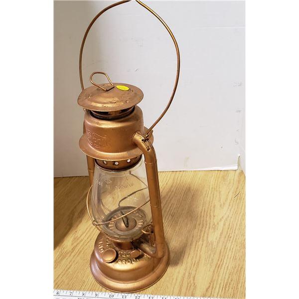 copper painted Beacon Barn lantern